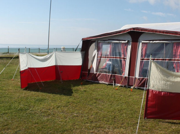 Our touring and camping pitches, some of which are right on the beach