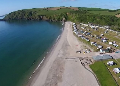 Pentewan Sands Holiday Park from above