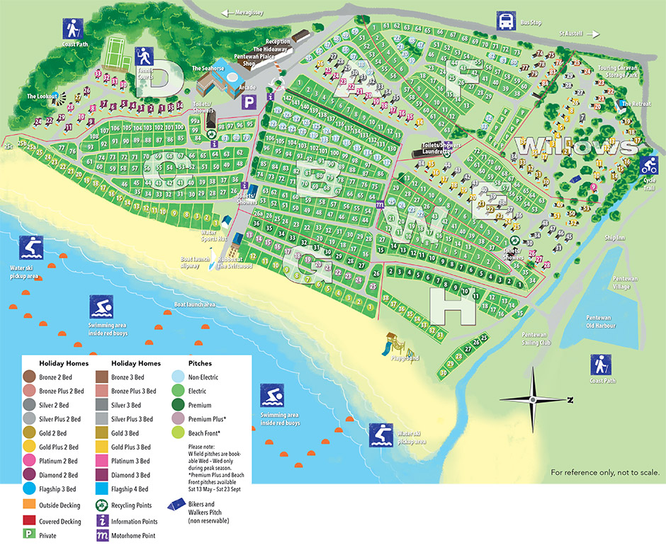 Page Map Site: Holiday Park Layout And Map