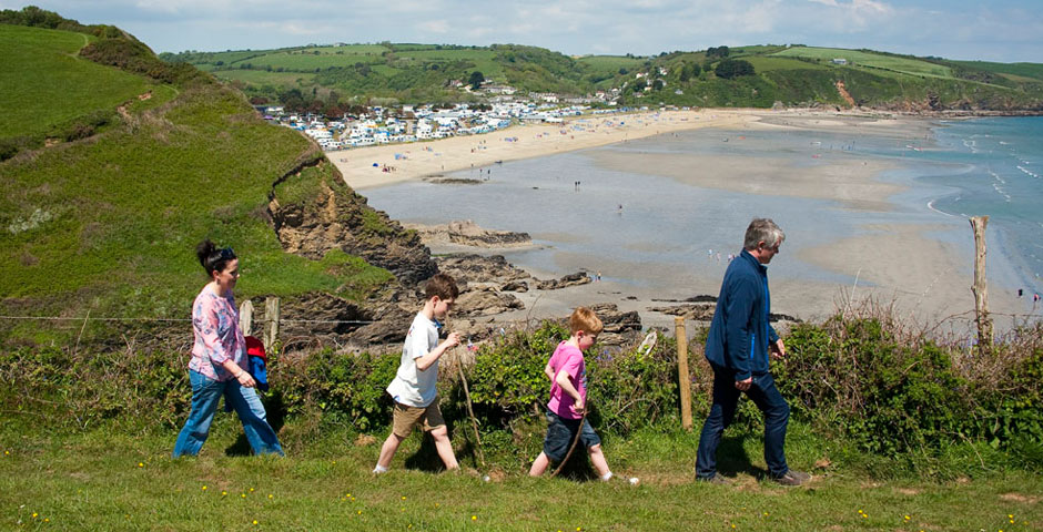 Walking near Pentewan Sands Holiday Park