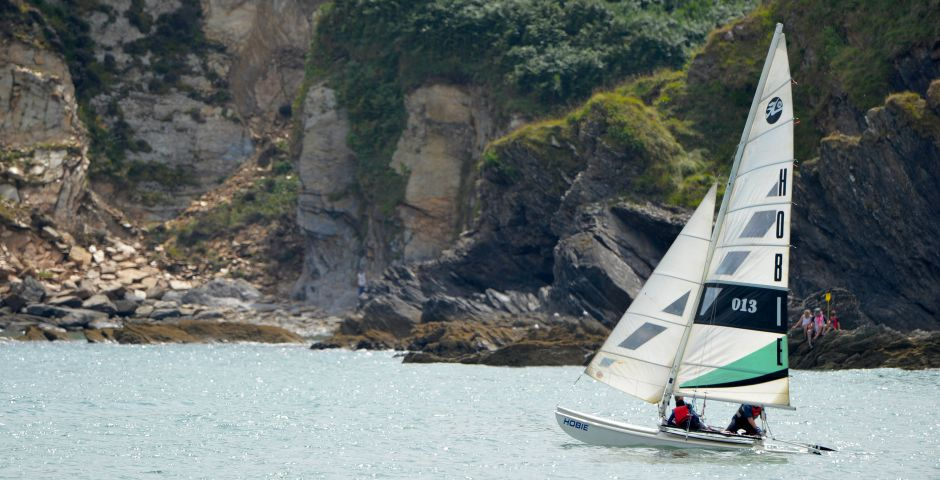 Sailing in Cornwall at Pentewan