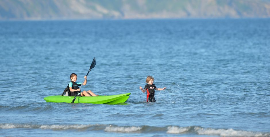 Watersports at Pentewan Sands Holiday Park in Cornwall, UK