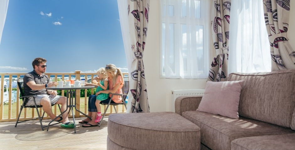 Stay in one of our family holiday homes with sea views