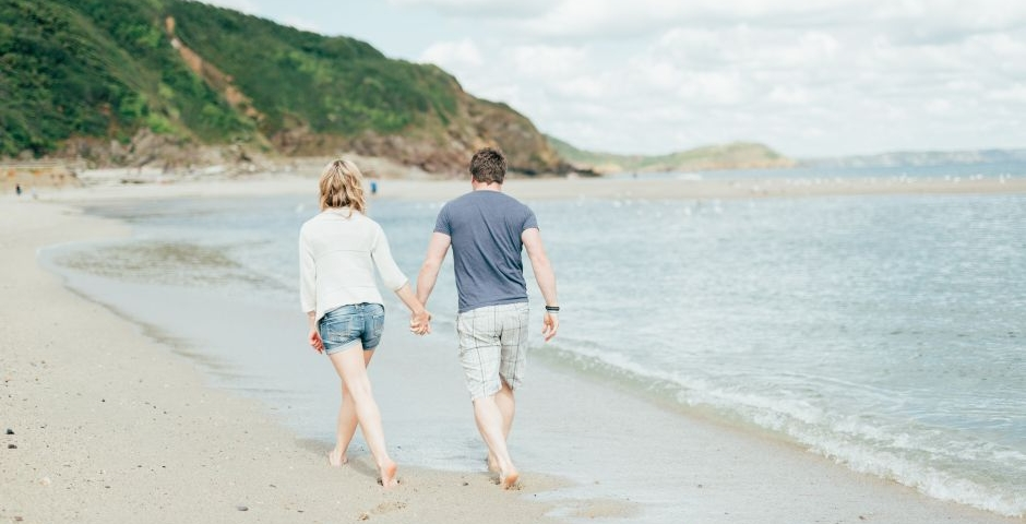 Enjoy romantic strolls on the beach