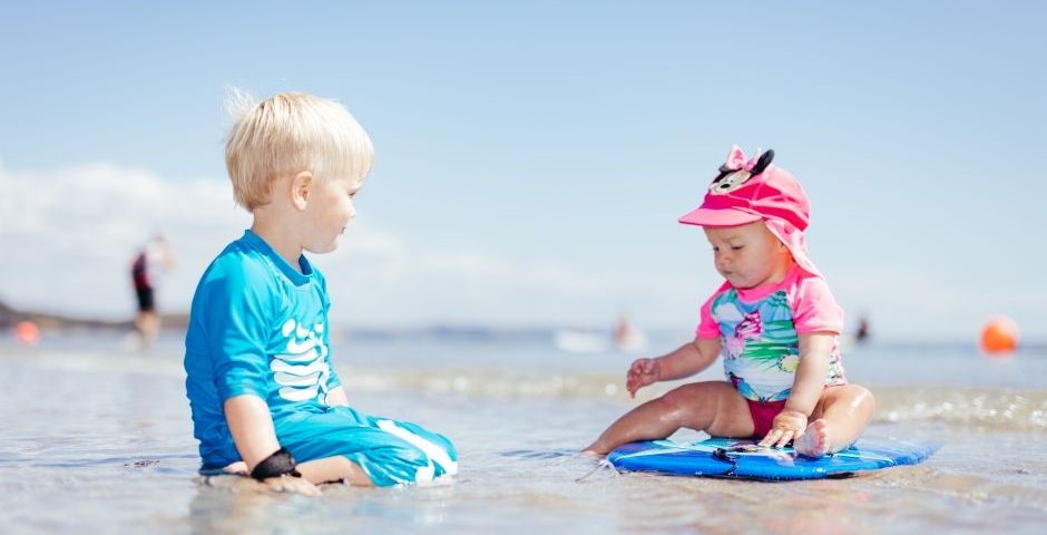 Beach fun at 5 Star Pentewan Sands Holiday Park, Cornwall